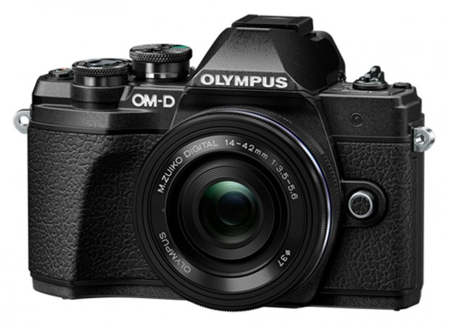 Olympus Olympus OM-D E-M10 Mark III Camera with 14-42mm EZ Lens, silver