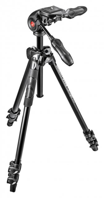 Manfrotto Manfrotto 290 light Aluminium Tripod with 3 way head