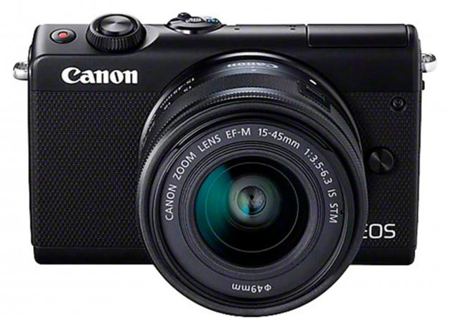 Canon Canon EOS M100 15-45mm and 22mm, black