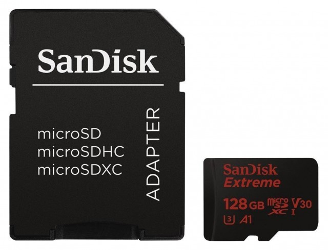 Sandisk Sandisk Micro SDXC Extreme Pro 128gb, 100mb/sec with SD adaptor