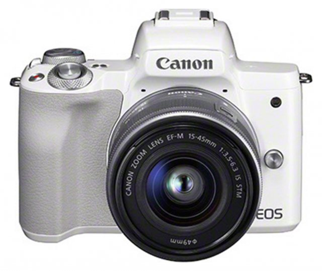 Canon Canon EOS M50 Camera with 15-45mm lens, White