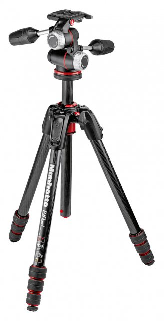Manfrotto Manfrotto 190go! Carbon 4-Section M-Lock Tripod with MHXPRO 3-Way Head