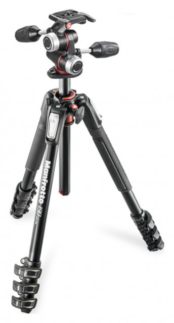 Manfrotto Manfrotto 190 Aluminum 4-Section Tripod with MHXPRO 3-Way Head