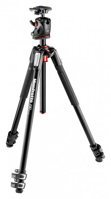 Manfrotto Manfrotto 190 Aluminum 3-Section Tripod with BHQ2 Ball Head