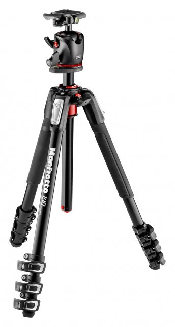 Manfrotto Manfrotto 190 Aluminum 4-Section Tripod with BHQ2 Ball Head