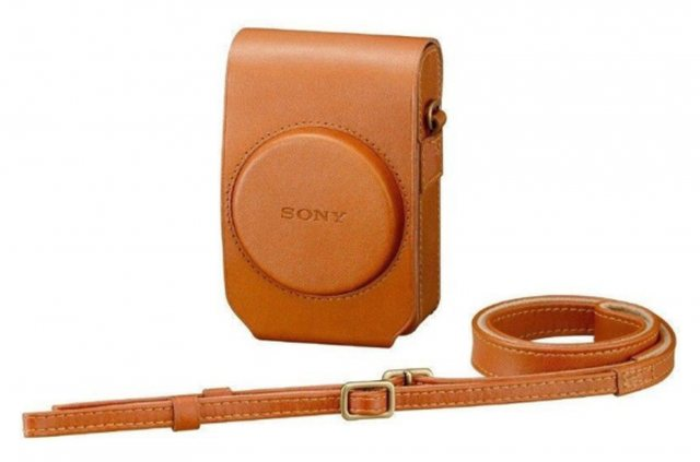 Sony Sony LCS-RXG Soft Tan Leather Case for RX100 series cameras