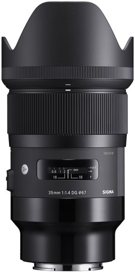 Sigma Sigma 35mm f1.4 EX DG HSM ART lens for Sony FE