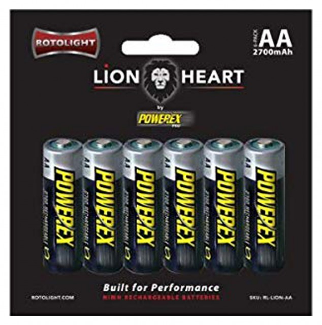 Rotolight Rotolight Lionheart AA Rechargeable Batteries by Powerex PRO (6 pack)