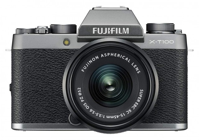 Fujifilm Fujifilm X-T100 Dark Silver with Black XC 15-45mm and 50-230mk II lenses