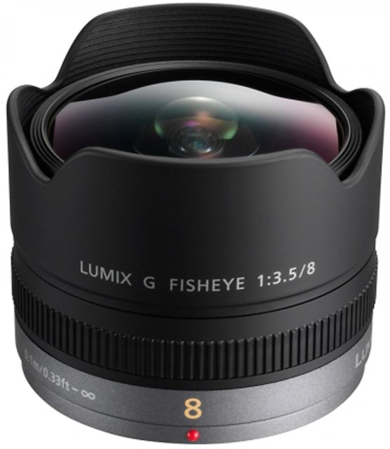Lumix Panasonic 8mm f3.5 Lumix G Fisheye lens