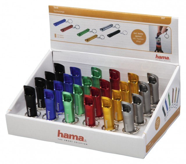 Hama Hama 2in1 Key-ring Torch with bottle opener, various colours