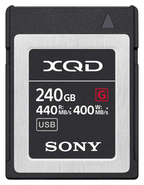 Sony Sony XQD G-Pro card, 240gb - Read 440MB/s, Write 400MB/s