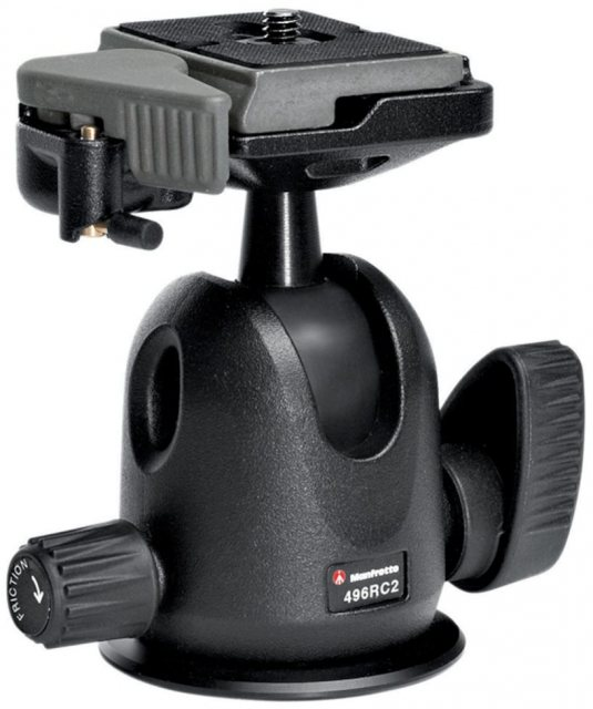 Manfrotto Manfrotto 496RC2 Compact Ball Head with RC2 quick release plate