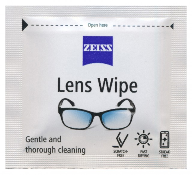 Zeiss Zeiss lens wipes, single