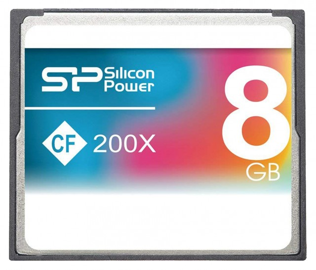 Silicon Power Silicon Power Compact Flash, 8 gig x200 Speed