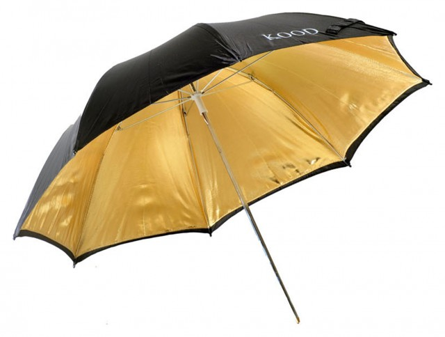 Kood Kood 36in Umbrella - Gold/Black