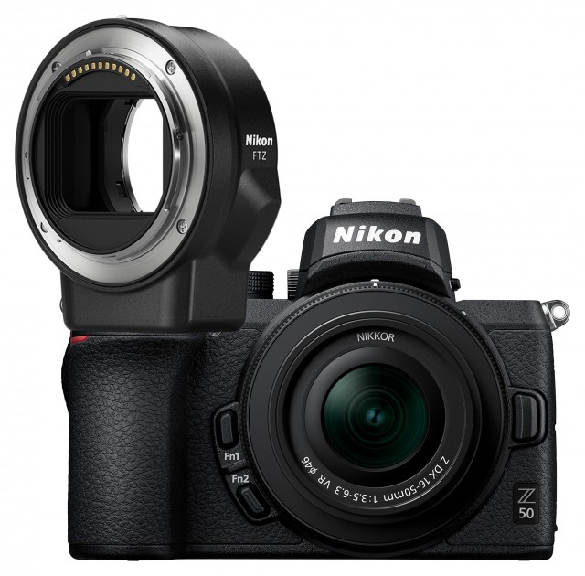 Nikon Nikon Z 50 Mirrorless Camera with 16-50mm f3.5-6.3 VR lens & FTZ mount adapter